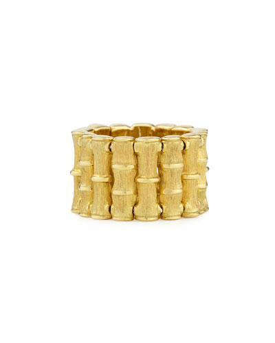 18k Yellow Gold Bamboo Ring