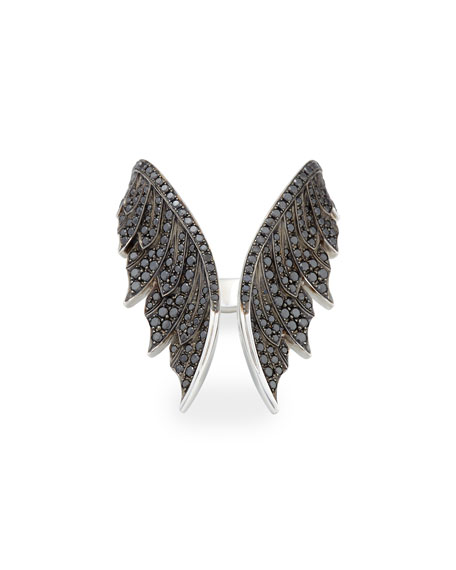 Magnipheasant Black Diamond Open Wing Ring