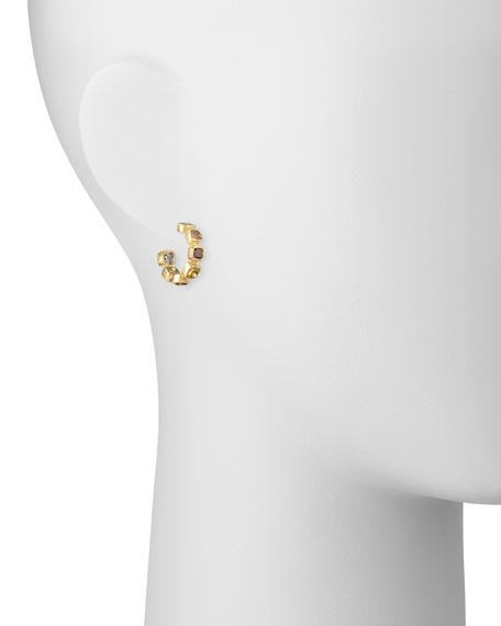 18k Fancy-Cut Natural Diamond Hoop Earrings