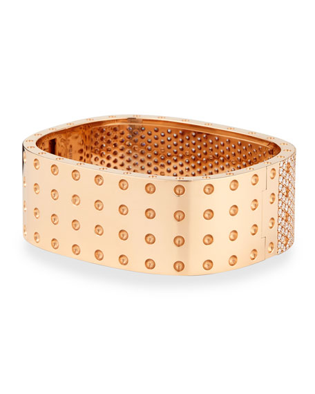 Pois Moi Rose Gold 4-Row Diamond Bangle