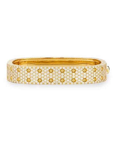 Robert Coin Pois Moi Yellow Gold 2-Row Diamond