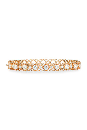 Jack Kelege & Company Rose Gold Diamond Oval Bangle Bracelet