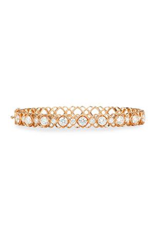 Jack Kelege & Company Rose Gold Diamond Oval Bangle Bracelet
