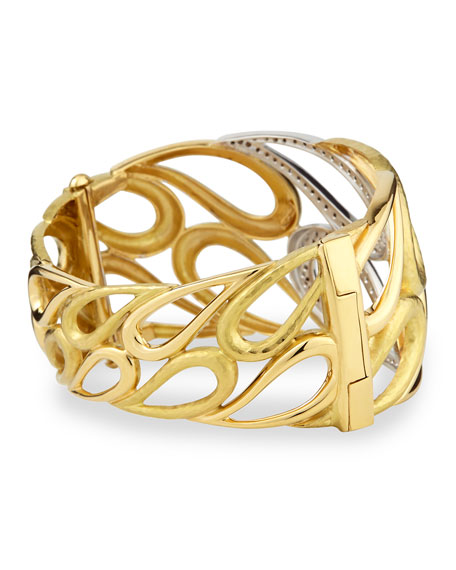 Onda 18k Gold and Diamond Cuff Bracelet