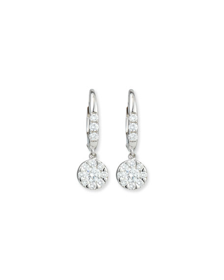 Flower Diamond Dangle Earrings
