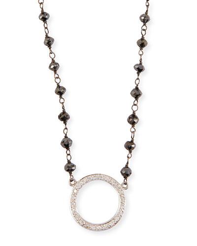 Twilight Diamond Circle Pendant Necklace