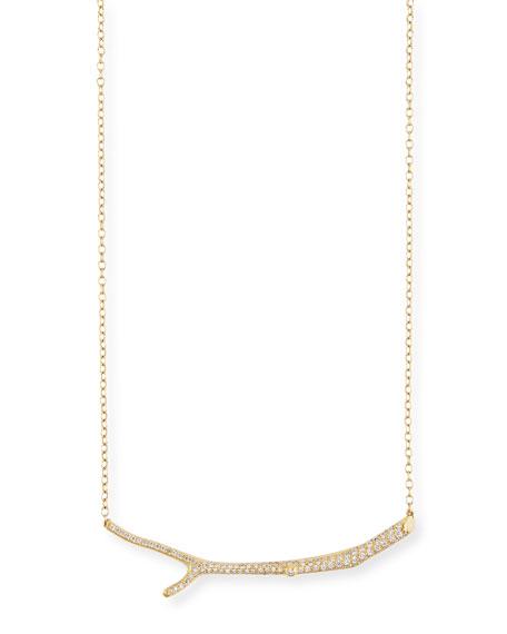 Wonderland 18k Yellow Gold Diamond Twig Necklace