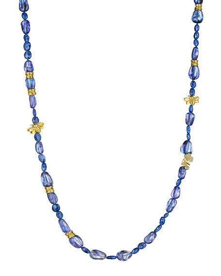 Mimi So Wonderland Beaded Tanzanite & Diamond Necklace