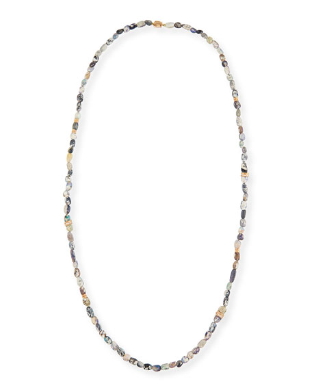 Wonderland Opal Necklace with Diamonds