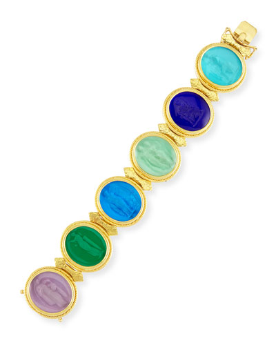 19k Large Oval Venetian Glass Bracelet