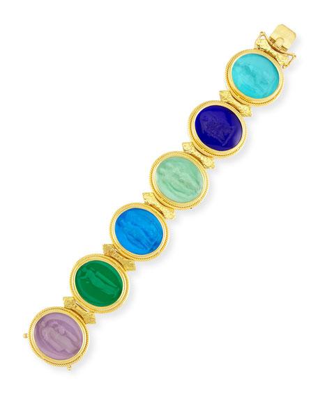 Elizabeth Locke 19k Large Oval Venetian Glass Bracelet