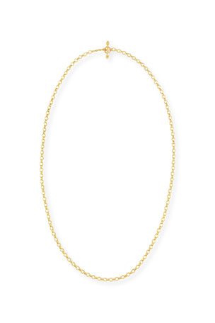 "Elizabeth Locke Cortina 19k Gold Link Necklace, 31""L"