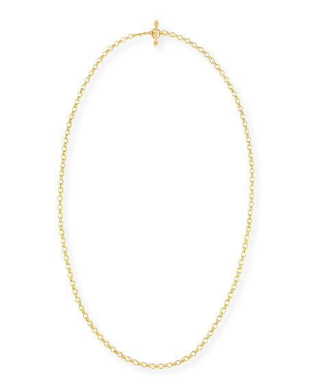 "Cortina 19k Gold Link Necklace, 31""L"