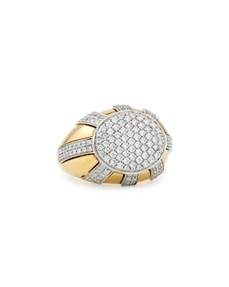 18k Gold Diamond Sun Ray Ring