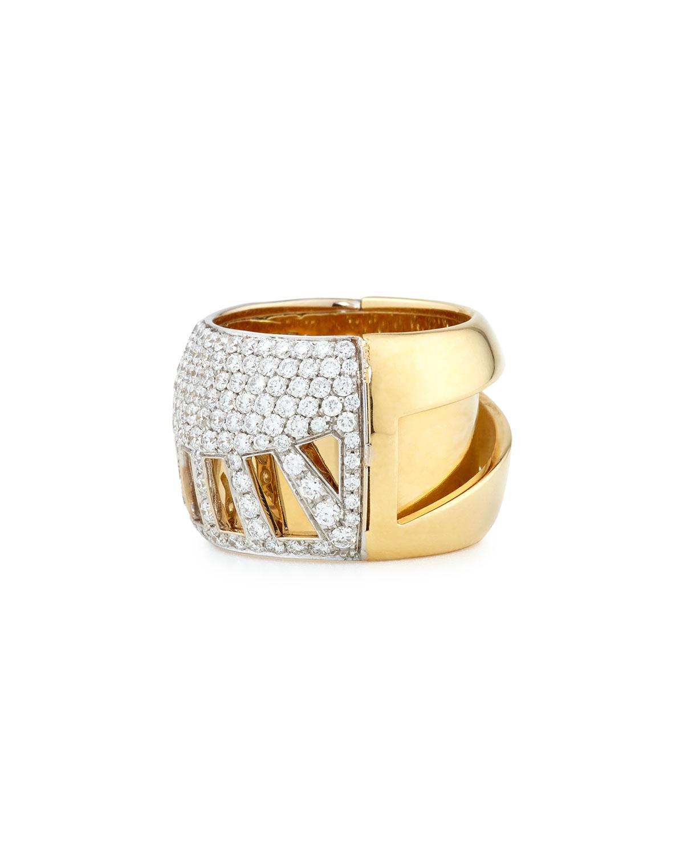 Miseno 18k Gold Diamond Sun Ray Ring F9Gvqooe
