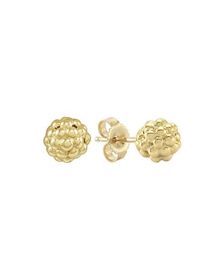 Caviar 18k Gold Stud Earrings