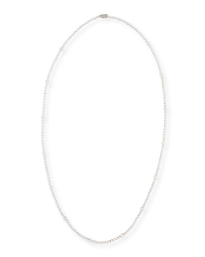 18k White Gold Long Diamond Necklace