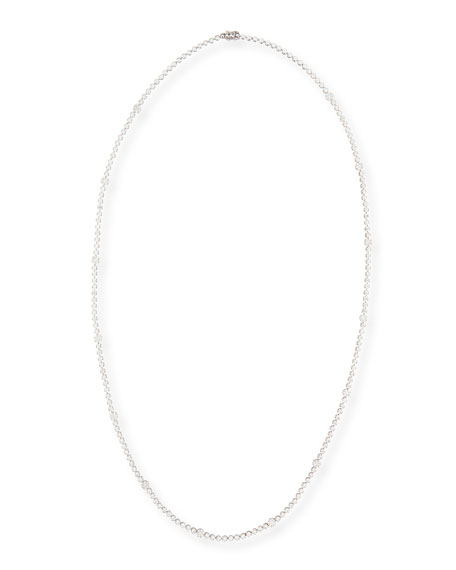 18k White Gold Long Diamond Necklace