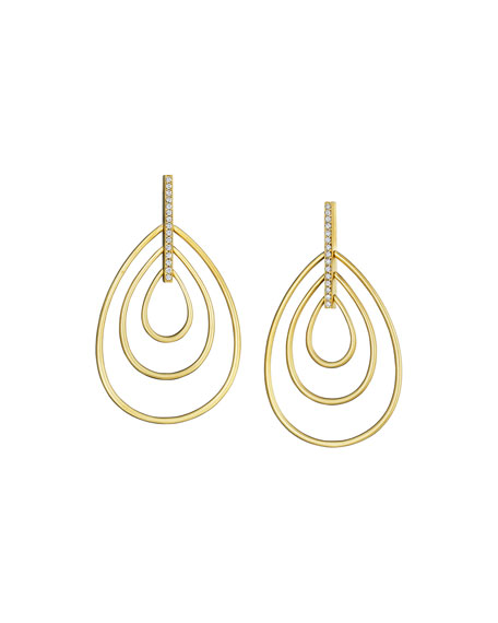 Moderne 18k Diamond Teardrop Earrings