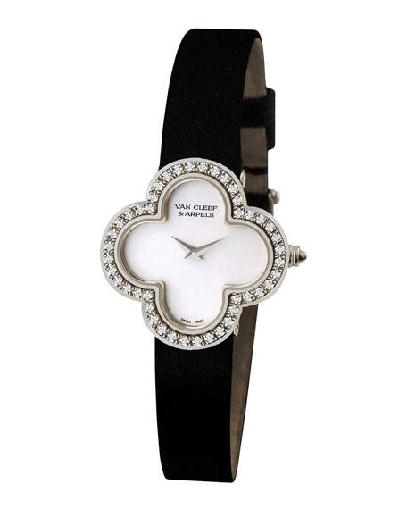 Vintage Alhambra Sertie White Gold Watch, Medium