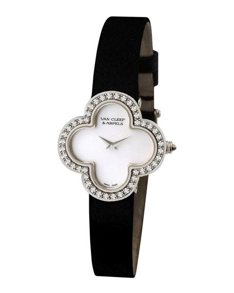 Vintage Alhambra Sertie White Gold Watch, Medium