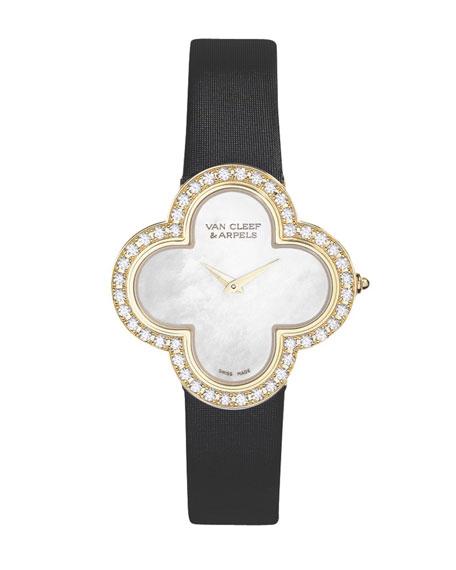 30mm Alhambra Sertie 18K & Diamond Watch