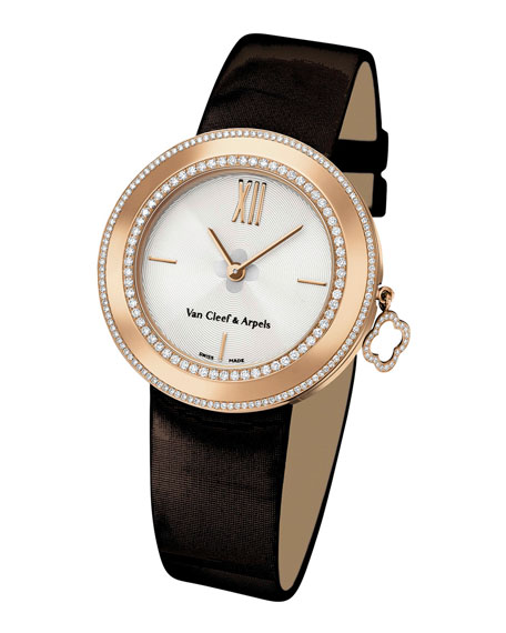 Pink Gold Charms Watch with Diamonds, 32mm