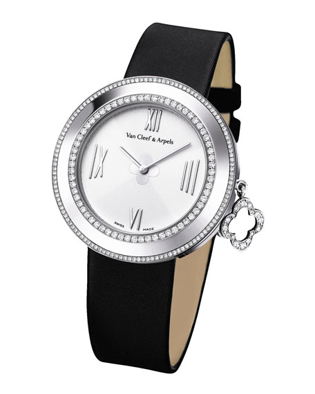 White Gold Charms Watch with Diamonds, 38mm