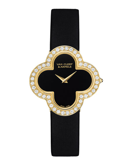 Alhambra Sertie Yellow Gold Watch, Medium