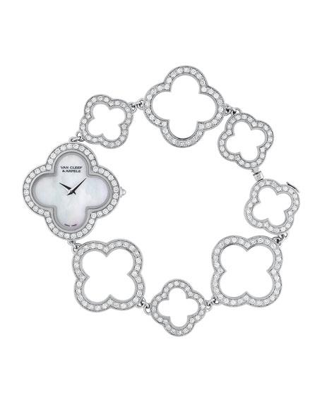 Vintage Alhambra White Gold Bracelet Watch
