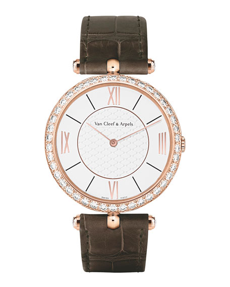 Pierre Arpels Pink Gold Watch with Diamonds, 38mm