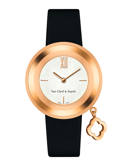Van Cleef & Arpels Charms Pink Gold Watch,