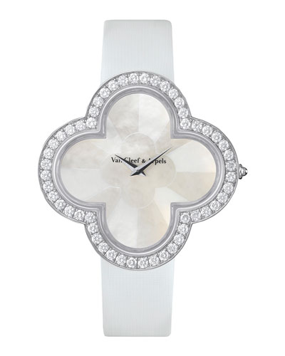 Alhambra Talisman White Gold Watch, 40mm