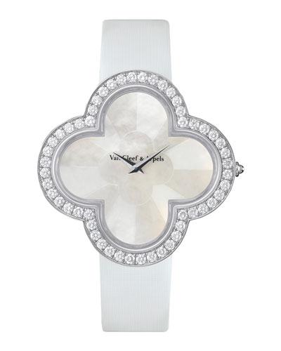 Alhambra Talisman White Gold Watch, 40mm