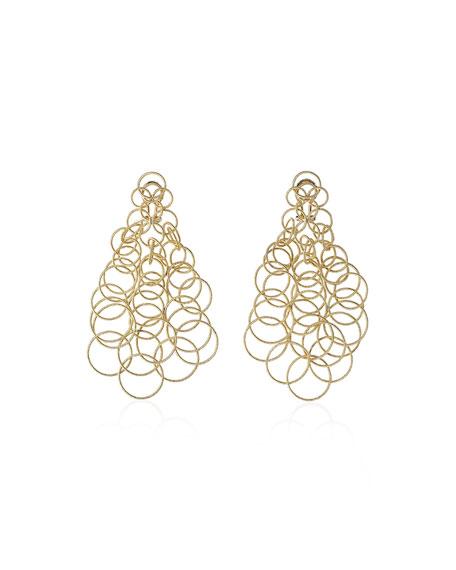 18k Gold Hawaii Earrings, 2.5