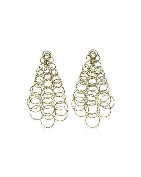 18k Gold Hawaii Earrings, 3.5