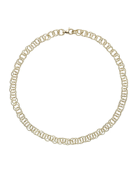 "18k Gold Honolulu Necklace, 16""L"