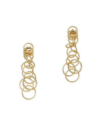18k Gold Honolulu Earrings, 1.5