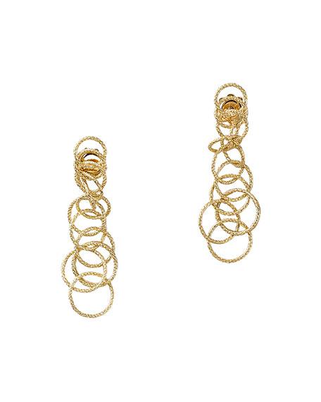 18k Gold Honolulu Earrings, 1.5