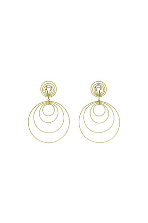 Buccellati 18k Gold Hawaii Double-Drop Earrings
