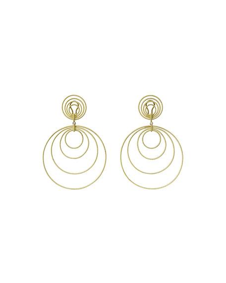 18k Gold Hawaii Double-Drop Earrings
