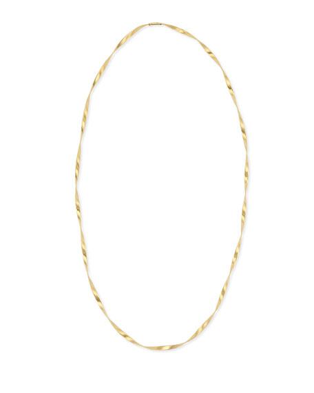 Marrakech 18k Gold Single Strand Necklace, 36