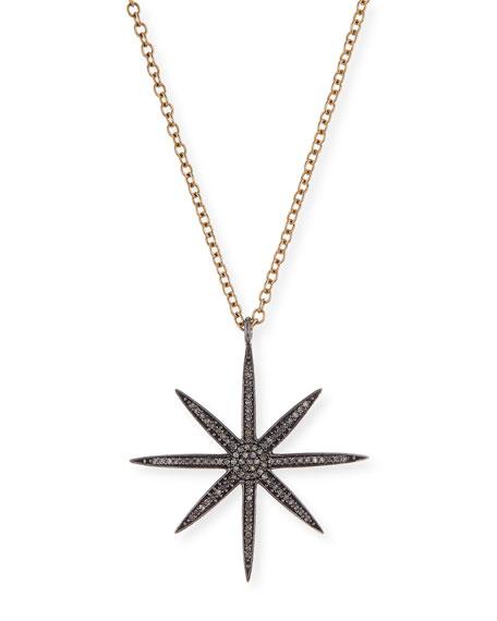 Diamond Starburst Pendant Necklace