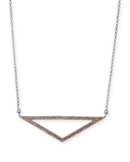 Open Triangle Diamond Pendant Necklace