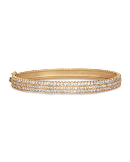 Scalloped Pave Diamond Hinge Bracelet