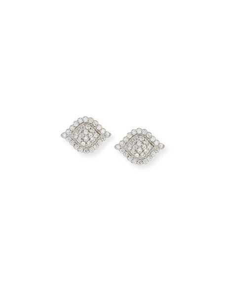 Jamie Wolf Scalloped Aladdin Diamond Stud Earrings
