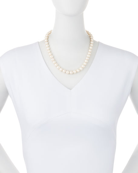 "10mm Freshwater Pearl Necklace, 17""L"