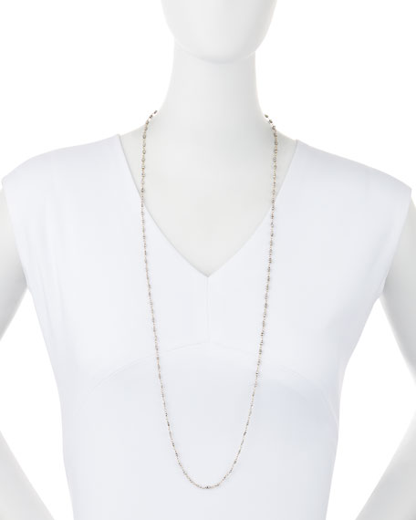 "18k Gold and Pyrite Chain Necklace, 36""L"