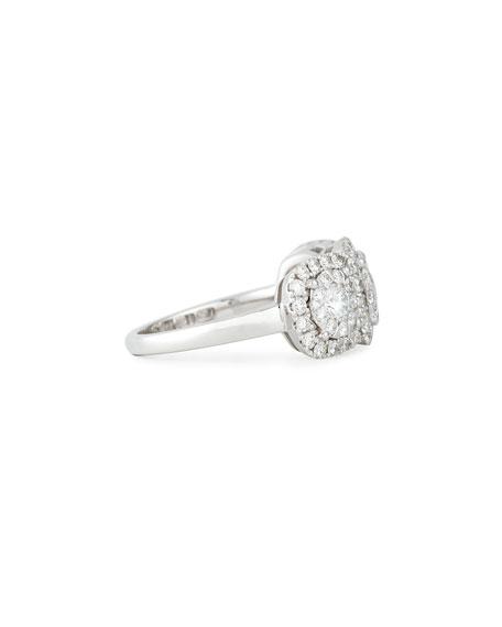 Bouquet 18k White Gold 3-Stone Diamond Ring, Size 6.5