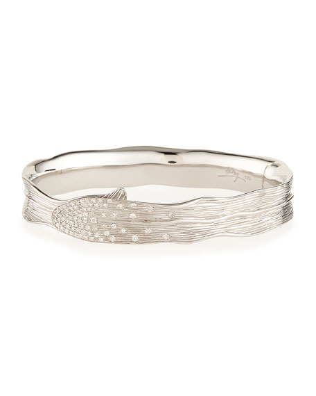 Michael Aram Palm Pave Diamond Hinged Bangle